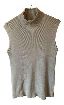Hermes Khaki Wool Knitwear
