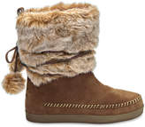 Toms Rawhide Suede Faux Hair Women's Nepal Boots