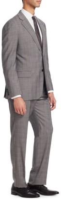 Emporio Armani Cement Plaid G Line Suit