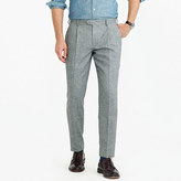 J.Crew Pleated Bowery slim pant in basketweave wool