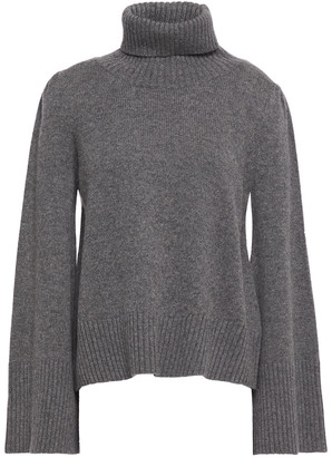 Co Melange Wool And Cashmere-blend Turtleneck Sweater