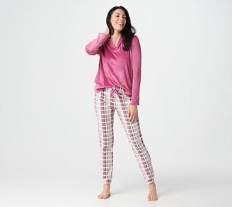 Cuddl Duds Petite Ultra Plush Velvet Fleece Jogger Pants PJ Set
