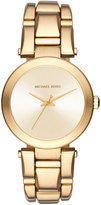 MICHAEL Michael Kors Delray 36mm Round Bracelet Watch, Yellow Golden
