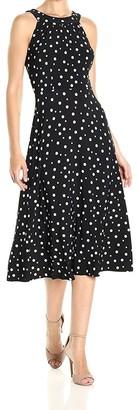 Tommy Hilfiger Women's High Low Dot Jersey Dress