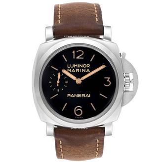 Panerai Black Stainless Steel Luminor 1950 PAM00422 Men's Wristwatch 47 MM
