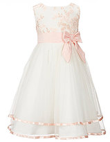 Rare Editions Little Girls 2T-6X Lace Bow-Waist Fit-and-Flare Dress