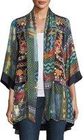 Johnny Was Koben Canvas Embroidered Twill Kimono, Plus Size