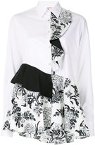 Antonio Marras panelled ruffle-trim blouse