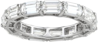 Charles & Colvard 14k White Gold 3 3/4 Carat T.W. Lab-Created Moissanite Eternity Band