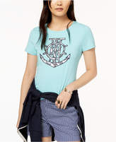 Tommy Hilfiger Embroidered Anchor-Graphic T-Shirt, Created for Macy's