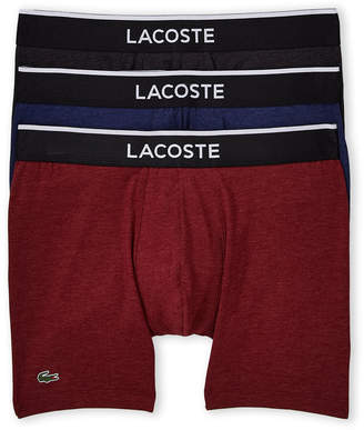 Lacoste 3-Pack Solid Boxer Briefs
