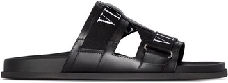 Valentino Garavani VLTN leather slides