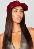 Missy Empire Nicki Wine Velvet Cap