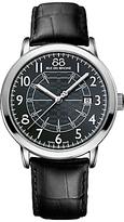 88 Rue du Rhone 87WA144210 Men's Double 8 Origin Stainless Steel Leather Strap Watch, Black