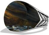 David Yurman Chevron Round Signet Ring with Pietersite