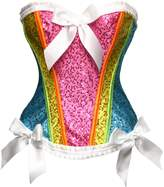BSLINGERIE® Women Fashion Satin Bridal Overbust Corset (XL, )