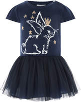 Monsoon Baby Beatrix Bunny Knitted Disco Dress