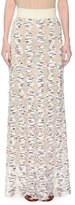 Missoni Open-Knit Confetti-Diamond Maxi Skirt