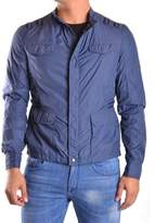 CNC Costume National Men's Blue Polyamide Outerwear Jacket.