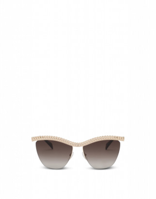 Moschino Sunglasses With Gold Frame