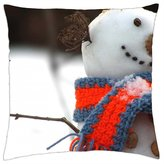 """iRocket - Tit and snowman - Throw Pillow Cover (18"""" x 18"""")"""