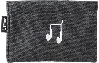 Container Store Charcoal Earphone Accessory Pouch