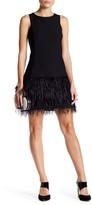 Lucy Paris Feather Shift Dress