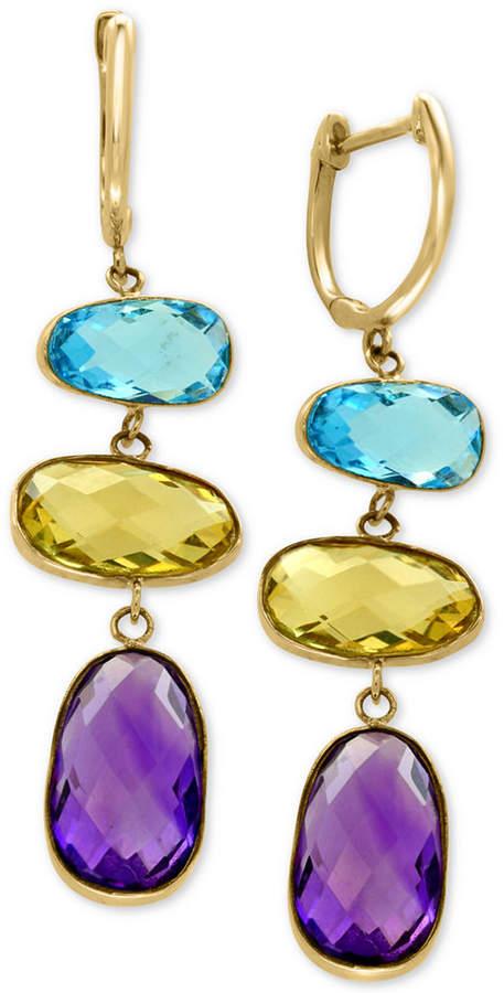 Effy Multi-Gemstone Drop Earrings (13 ct. t.w.) in 14k Gold