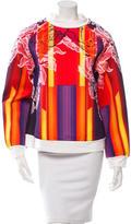Peter Pilotto Orchid Beam Neoprene Sweatshirt w/ Tags