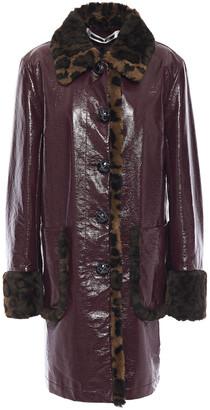 McQ Faux Fur-trimmed Coated Cotton-canvas Coat