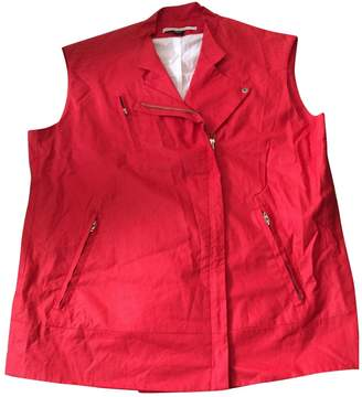Martine Sitbon Red Cotton Leather Jacket for Women
