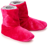 Hanes Pink Berry Plush Sherpa-Lined Slipper