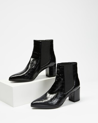 Dazie - Women's Black Chelsea Boots - Lachlan Ankle Boots - Size 5 at The Iconic