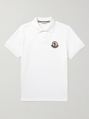 Moncler Logo-Appliqued Cotton-Pique Polo Shirt