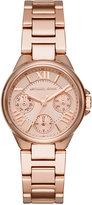 Michael Kors Women's Mini Camille Rose Gold-Tone Stainless Steel Bracelet Watch 33mm MK6447