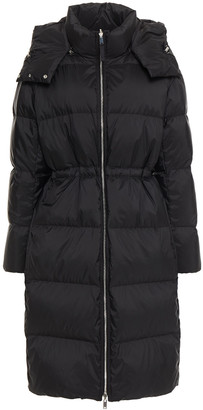 Theory Quilted Shell Hooded Down Coat