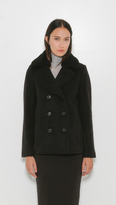 Alexander Wang Peacoat w/Shearling Collar