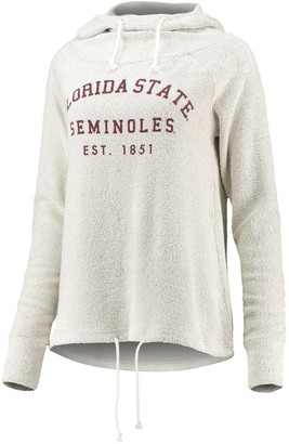 Women's chicka-d Cream Florida State Seminoles Looped French Cowl Hoodie