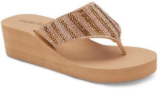 OLIVIA MILLER Sole Survivor Wedge Sandals Women Shoes