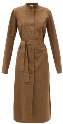 Lemaire Cotton-ventile Midi Shirt Dress - Dark Khaki