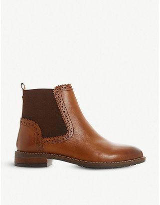 Dune Quant brogue-detail leather Chelsea boots