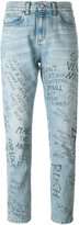 Gucci Panther graffiti jeans - women - Cotton - 25