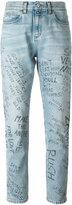 Gucci Panther graffiti jeans