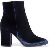 Gianvito Rossi Velvet Ankle Boots - Midnight blue