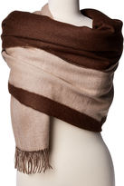 Alicia Adams Alpaca Reversible Alpaca Wrap, Beige/Cafe