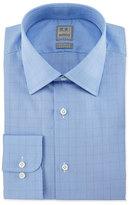Ike Behar Glen Plaid Woven Dress Shirt, Blue