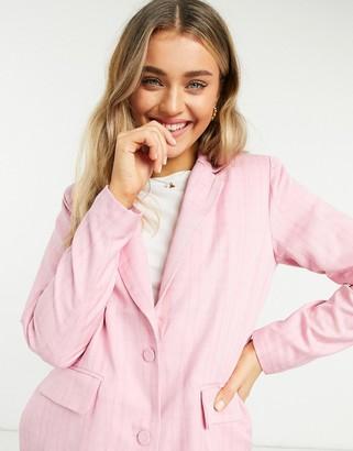 Vila boxy blazer in pink