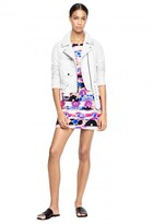 Milly + Michael De Feo Floral Leather