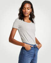 Ann Taylor Pima Cotton Scoop Neck Tee