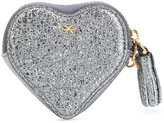 Anya Hindmarch crinkled metallic heart - women - Leather/Brass - One Size